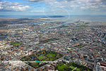 aerial view to Dublin Bay over Stephens Green