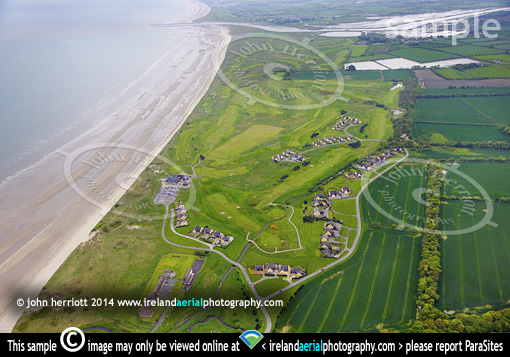 Seapoint Golf aerial, Termofeckin, Co Louth