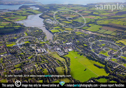 Carrigaline aerial photo County Cork