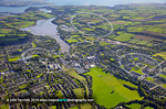 Carrigaline aerial view of town close to Cork city