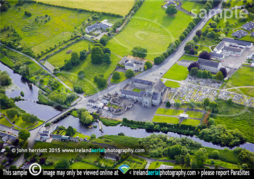 Holycross Abbey, River Suir aerial photo