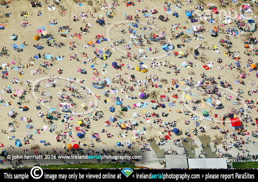 aerial sunbathers graphic view