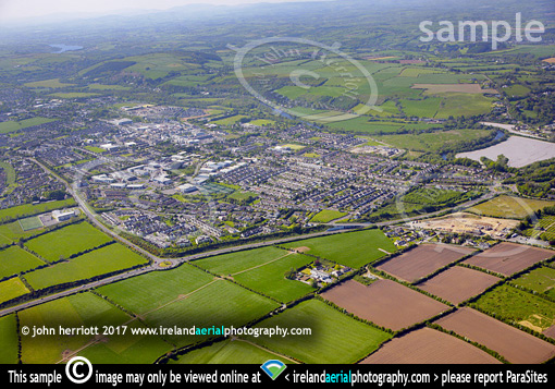 Ballincollig aerial from eastern approaches