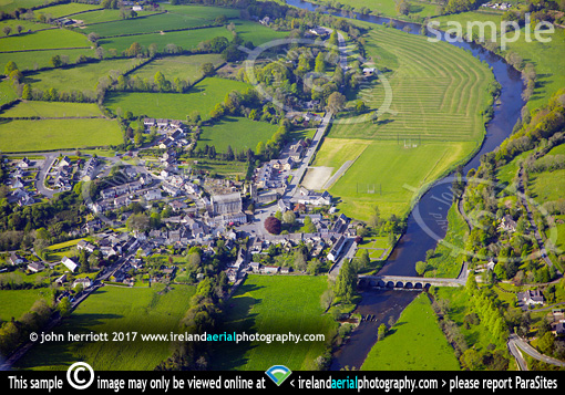 Inistioge, Kilkenny aerial photo