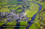 Inistioge aerial photo and River Nore