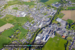 Tullow Co Carlow aerial town centre