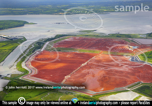 Rusal Bauxite waste, Co Limerick. Shannon River