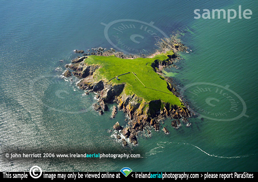 aerial photo of Capel Island, East Cork