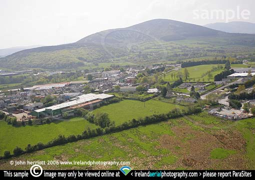 Millstreet aerial photo and Caherbarnagh mountain