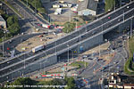 Flyover Kinsale Rd roundabout aerial view