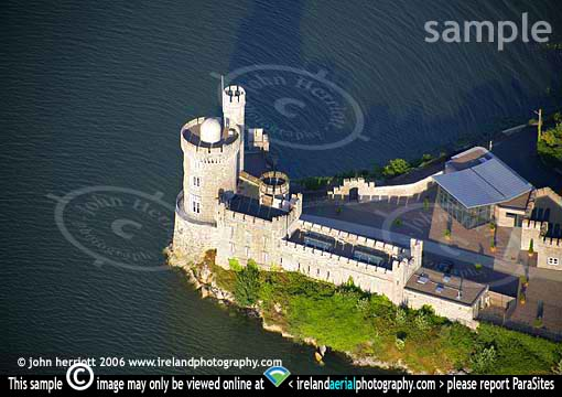 evening aerial view of Blackrock Castle