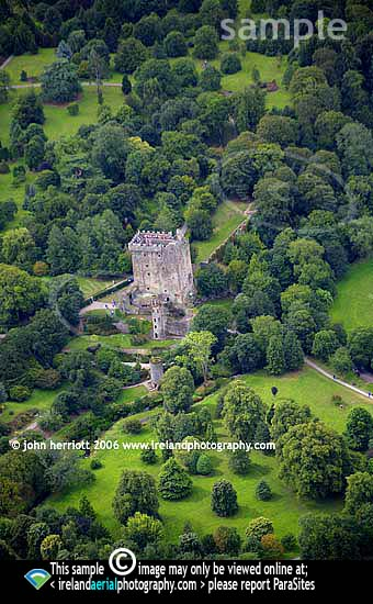 Blarney Castle, photographed from the air