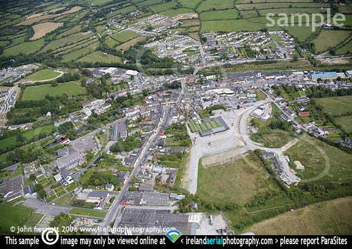 Aerial photography of Kanturk town