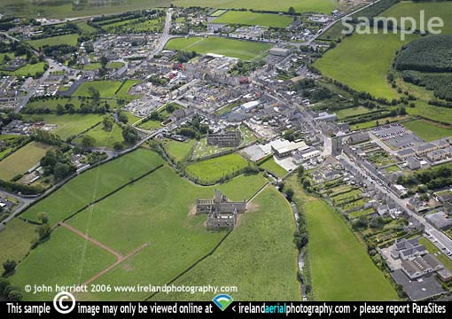Kilmallock Dominican Abbey; Aerial photo