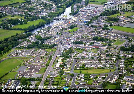 Aerial photography of Fermoy town
