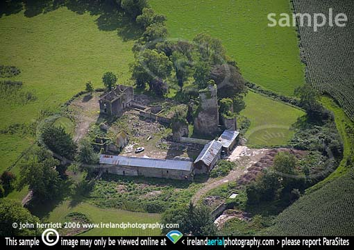 Mocollop Castle aerial County Waterford