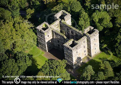 Aerial photography of Kanturk castle