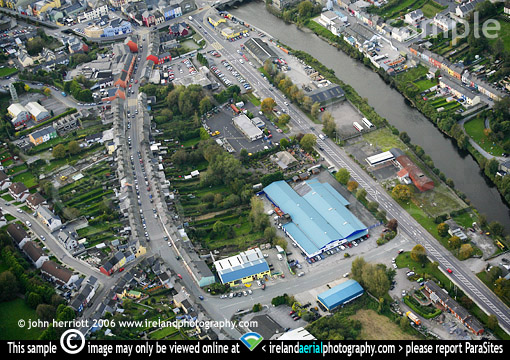 Station Road, Bandon aerial picture