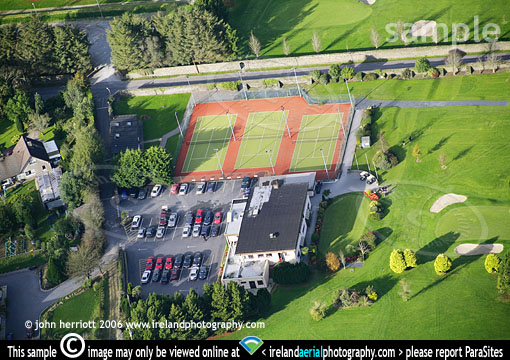 Bandon Golf Course Clubhouse and tennis courts