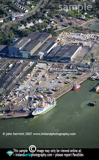 Aerial photo of Celtic Explorer at Rushbrook