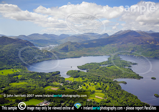 Muckross Lake, aerial photograph