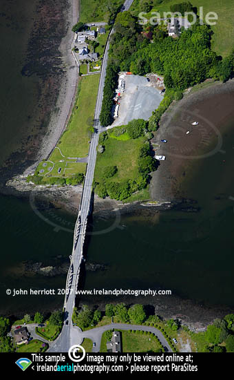 Aerial photograph of Our Lady's Bridge Kenmare