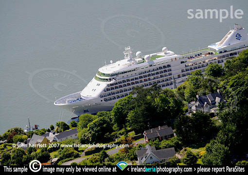 Silver Shadow at Cobh quays