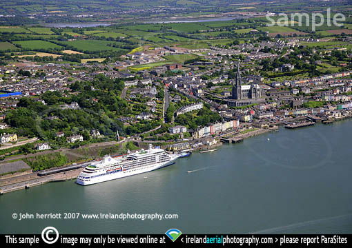 Silver Shadow at Cobh photography from the air