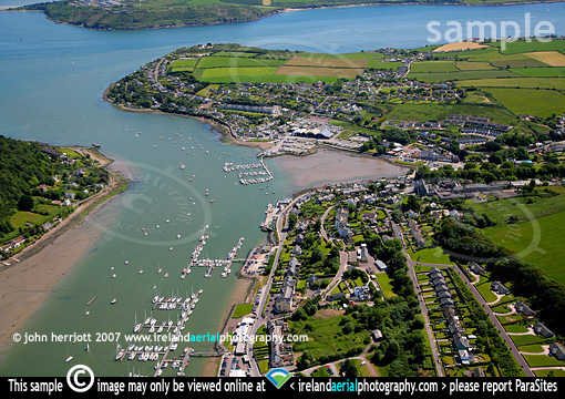 Aerial photography of Crosshaven; RCYC Marina