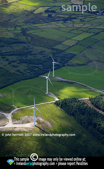 Aerial photo of Coomatallin wind farm