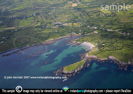 Aerial photo of Castlecove on the Ring of Kerry