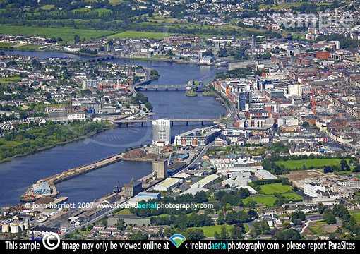 Bridges of Limerick and Shannon River