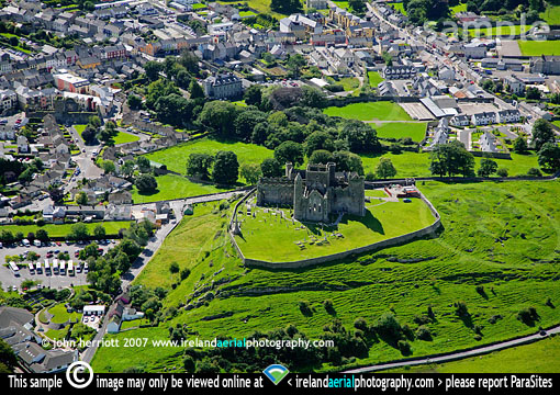 Cashel town and the Rock