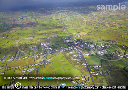 Mohill aerial of Co Leitrim town