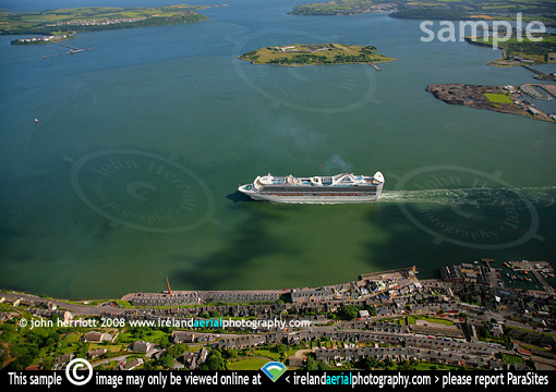 Grand Princess with Cork Harbour