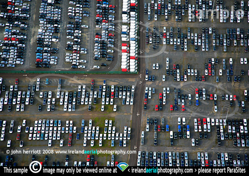 Aerial photo of car imports