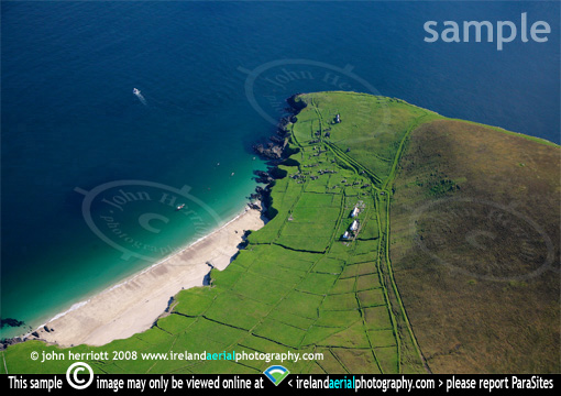 White Strand on Great Blasket aerial photograph