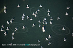 Wexford Harbour racing boats aerial photo