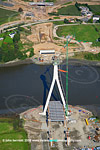 Waterford cable stayed bridge construction
