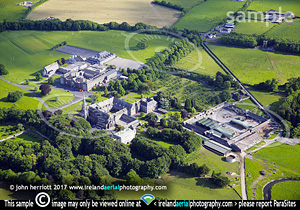 Roscrea Abbey. School to close. Aerial view