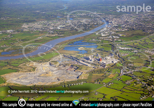 Irish Cement and limerick City aerial