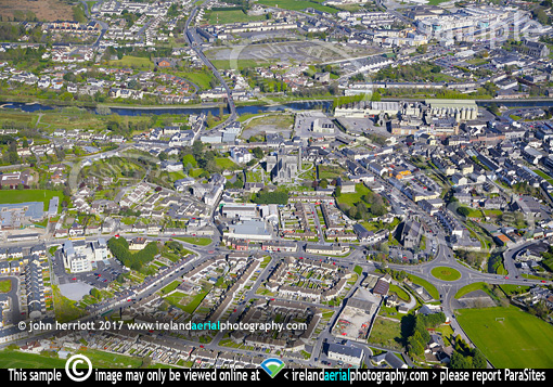 Kilkenny city residential aerial photo