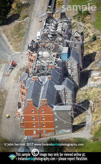St Kevins, Cork. Aerial photo showing aftermath of fire